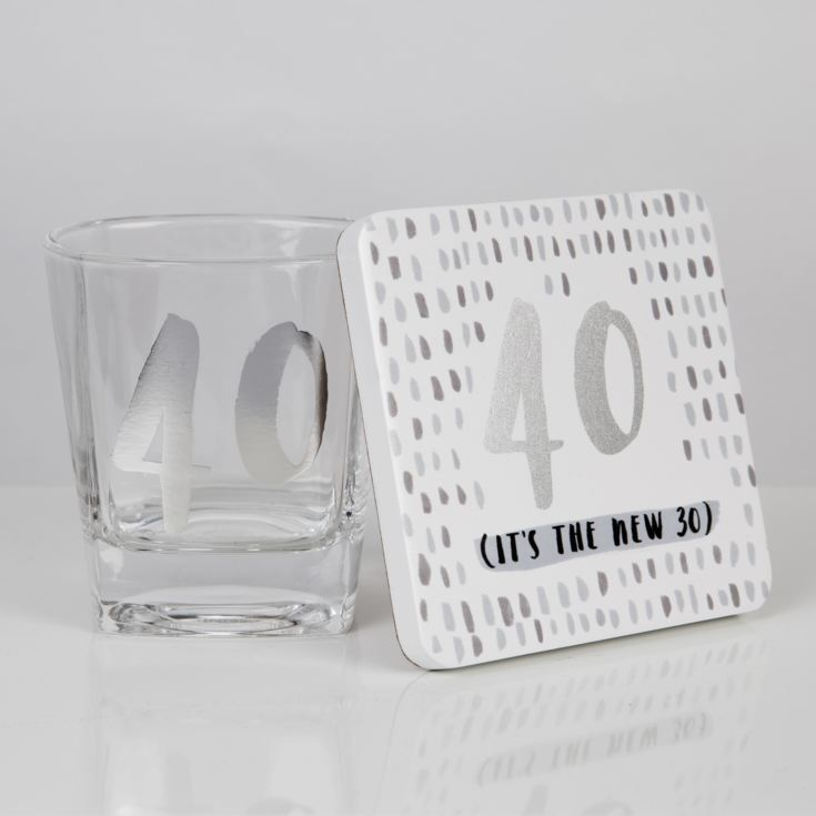 Luxe Whiskey Glass & Coaster Set - 40 product image