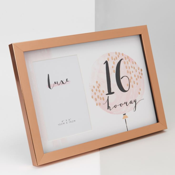"4"" x 6"" - Luxe Rose Gold Birthday Frame - 16 product image"