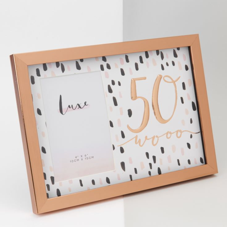 "4"" x 6"" - Luxe Rose Gold Birthday Frame - 50 product image"