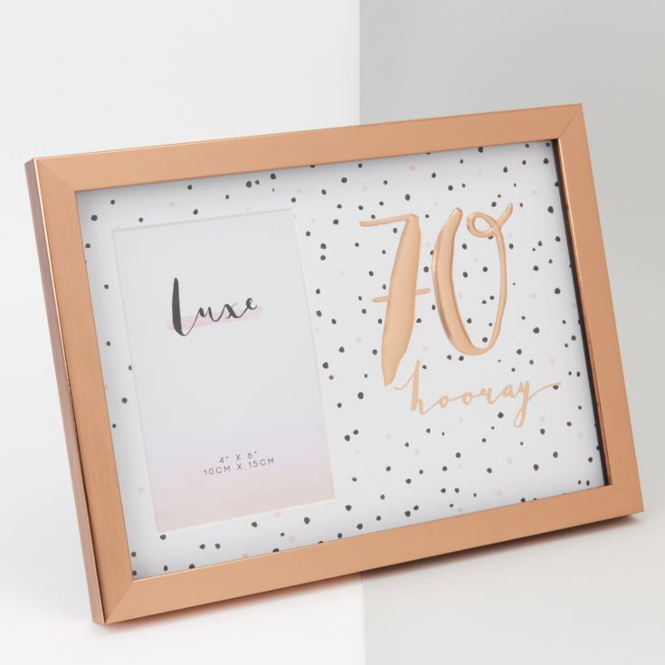 "4"" x 6"" - Luxe Rose Gold Birthday Frame - 70 product image"