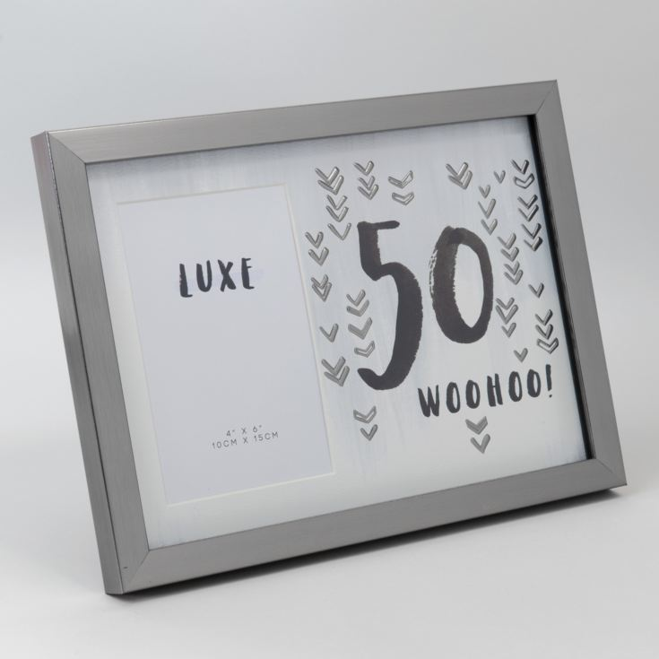 "4"" x 6"" - Luxe Male Gunmetal Birthday Frame - 50 product image"