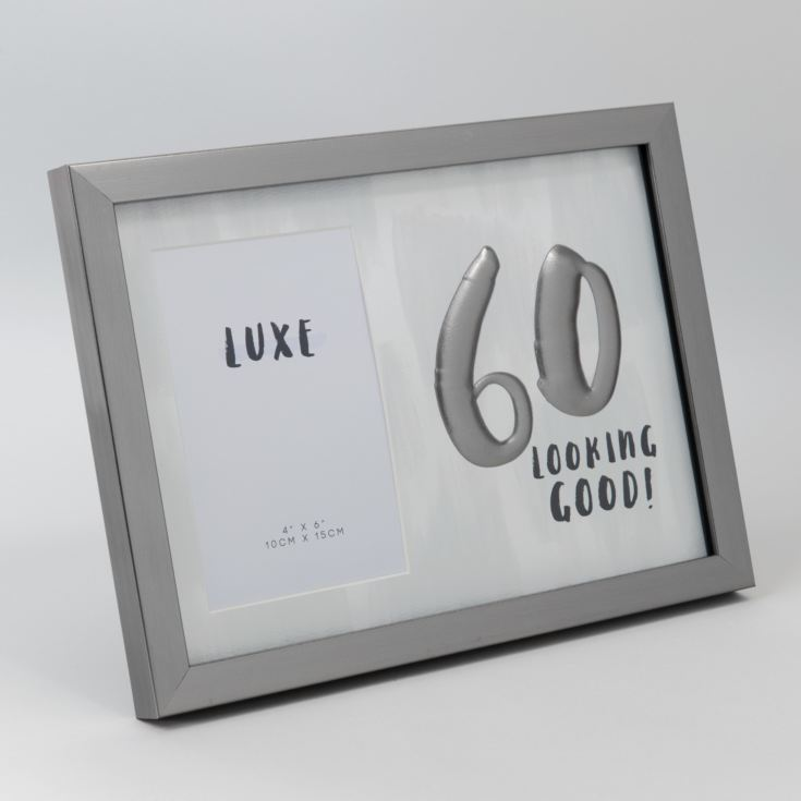 "4"" x 6"" - Luxe Male Gunmetal Birthday Frame - 60 product image"