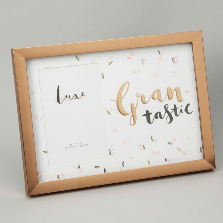 "Luxe Rose Gold Birthday Frame 4"" x 6"" - Grantastic product image"