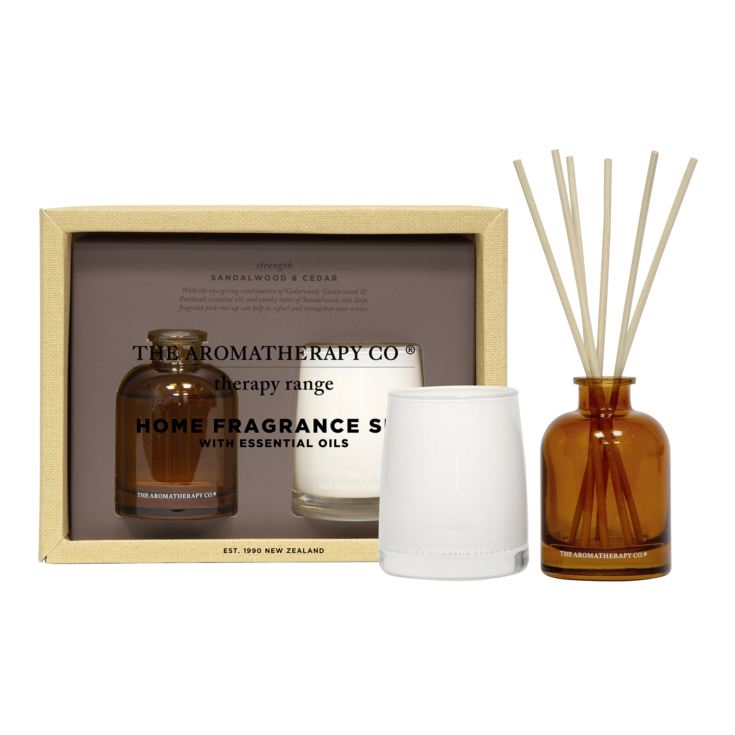 100g Candle & 50ml Reed Diffuser Therapy Set - Strength product image
