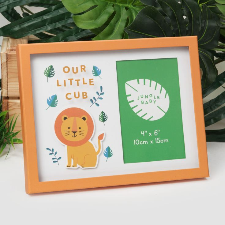 "4"" x 6"" - Jungle Baby London the Lion Frame - Our Little Cub product image"