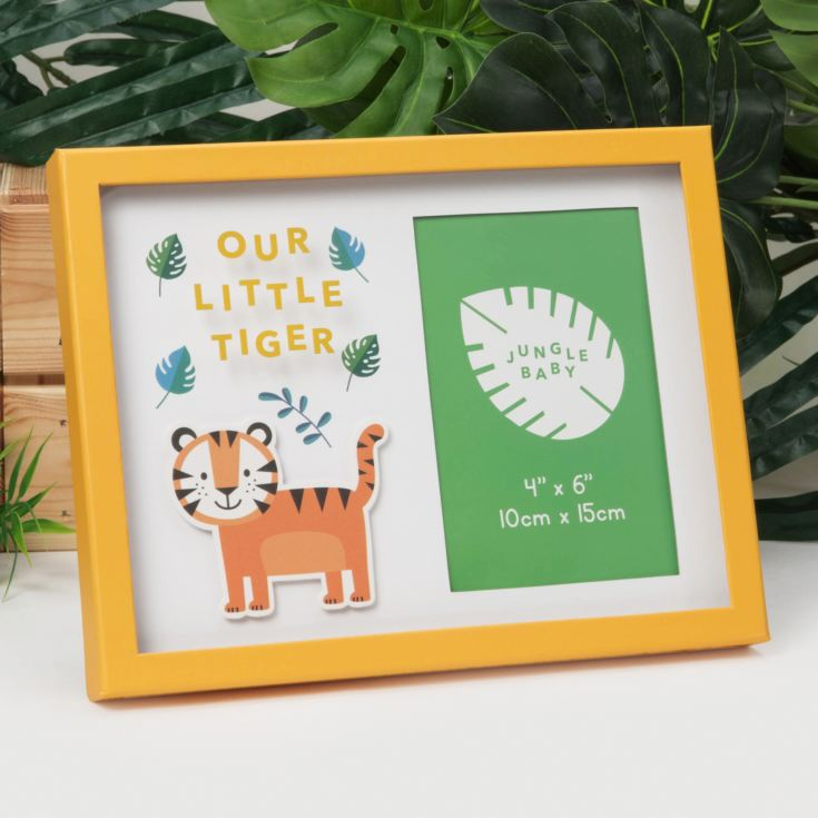 "4"" x 6"" - Jungle Baby Paperwrap Frame - Our Little Tiger product image"
