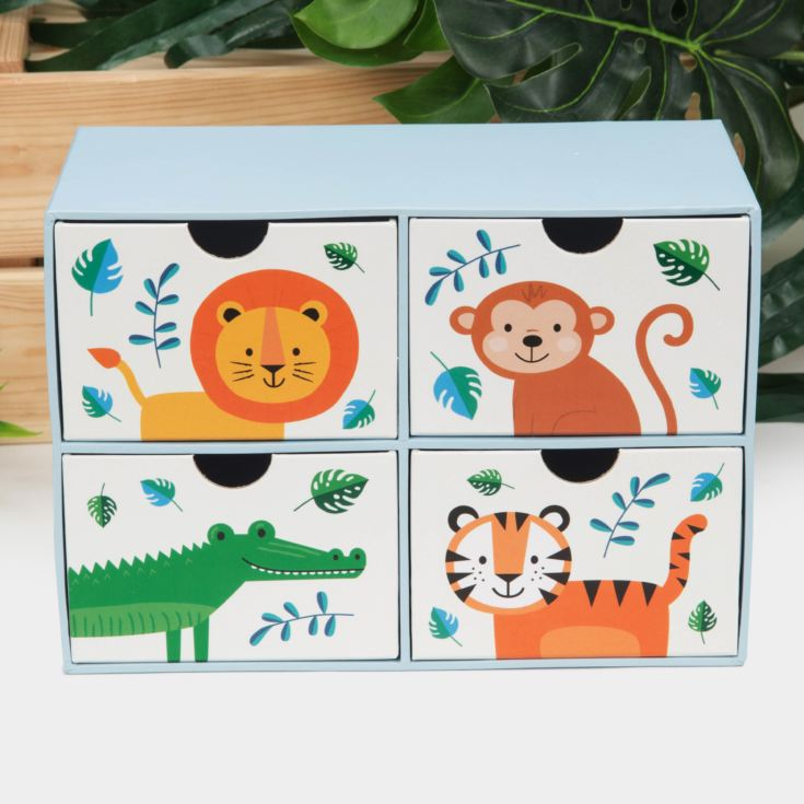 Jungle Baby Paperwrap 4 Drawer Storage Box product image