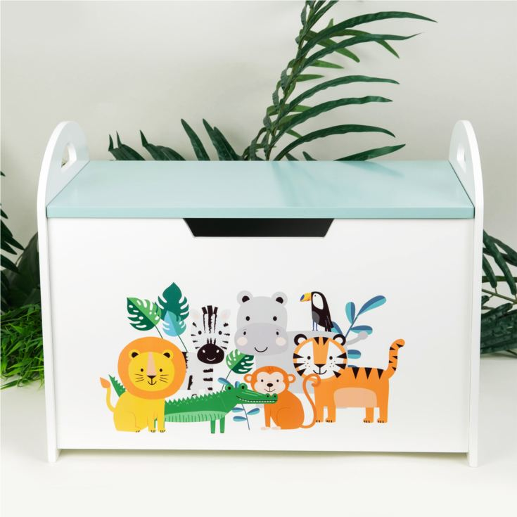 Jungle Baby Wooden Toy Chest product image