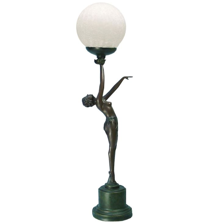 Juliana Gifts Lamp - Bronze Art Deco Standing Lady product image