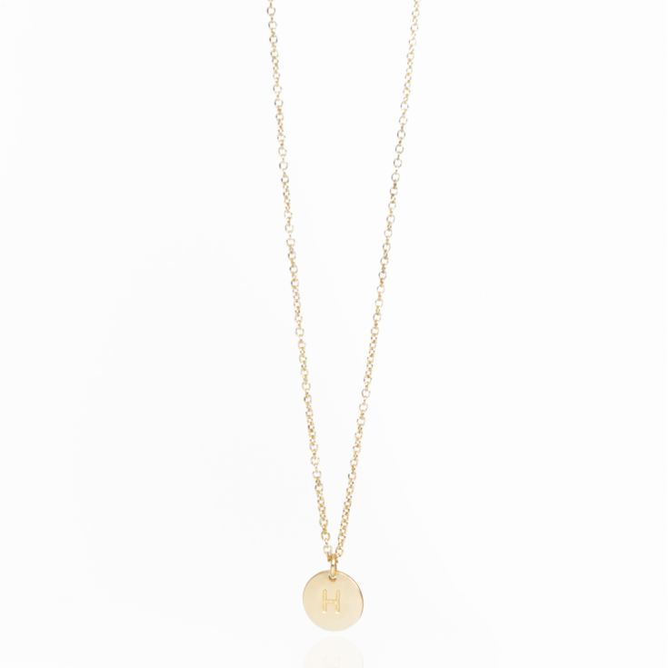 Letter Disc Necklace - H product image