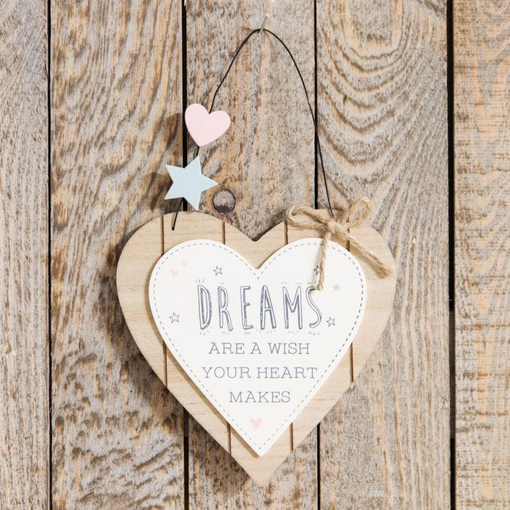 Love Life Heart Plaque - Dreams Are A Wish product image