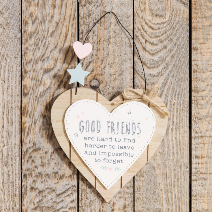 Love Life Heart Plaque - Good Friends Are Hard To Find product image