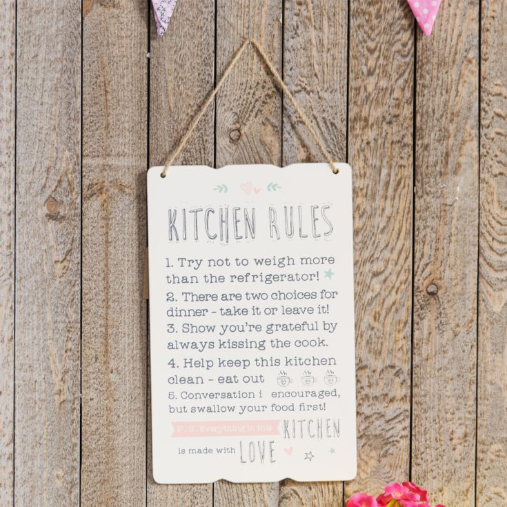 'Love Life' Rectangle Plaque - Kitchen Rules product image