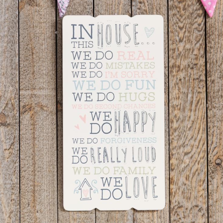 Love Life Rectangular Plaque - In This House product image