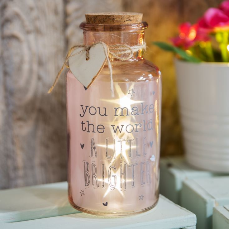 Love Life Light Up Jars - Make The World A Little Brighter product image