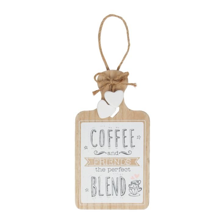 'Love Life' Hanging Plaque - Coffee & Friends product image