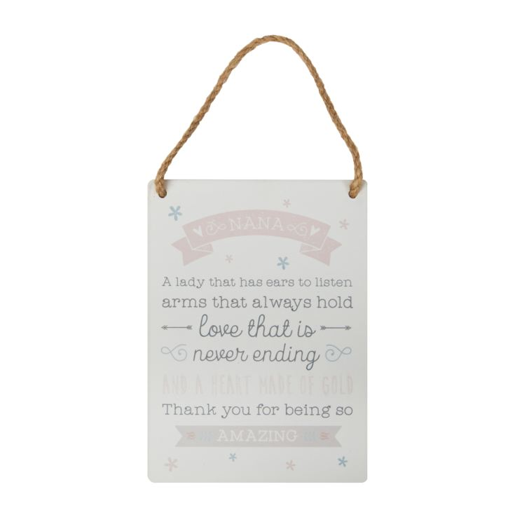 'Love Life' Tin Hanging Plaque - Nana product image
