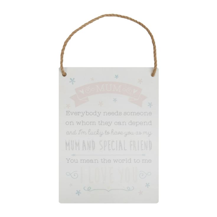 'Love Life' Tin Hanging Plaque - Mum product image
