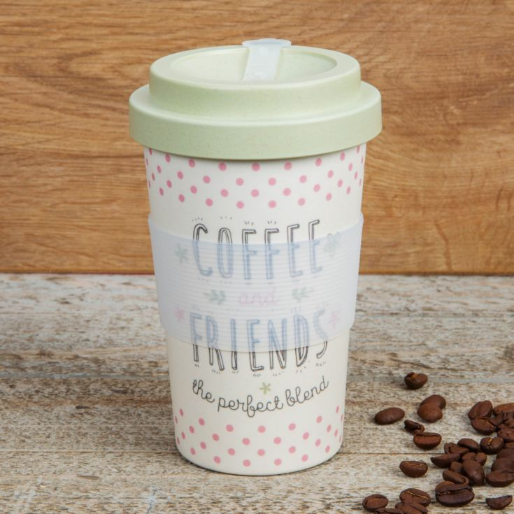 Love Life Bamboo Travel Mug 400ml - Coffee & Friends product image