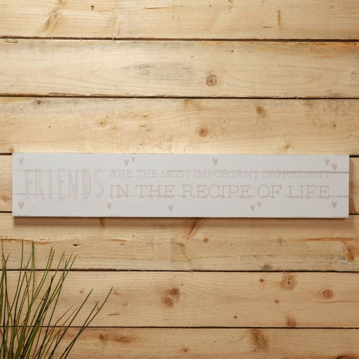 Love Life Giant Plaque - Friends Are The Most Important product image