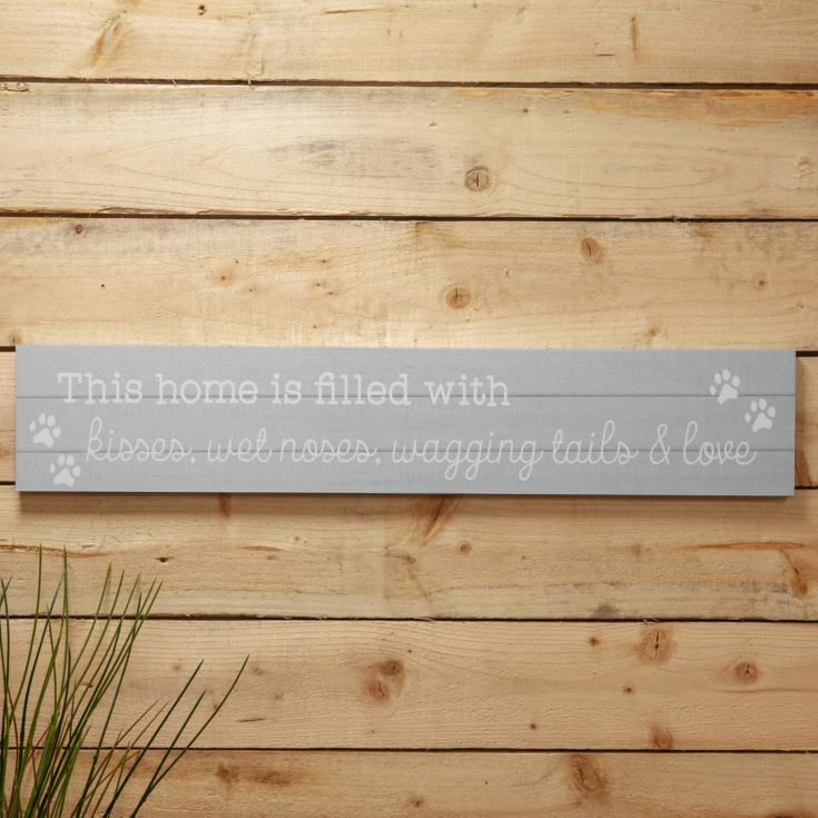 Love Life Giant Plaque - Kisses, Wet Noses & Wagging Tails product image