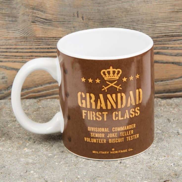 Military Heritage Stoneware Mug - Grandad First Class product image