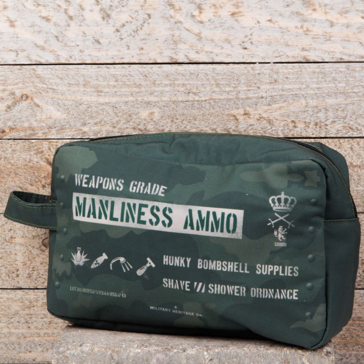 Miltary Heritage Manliness Ammo Canvas Wash Bag product image