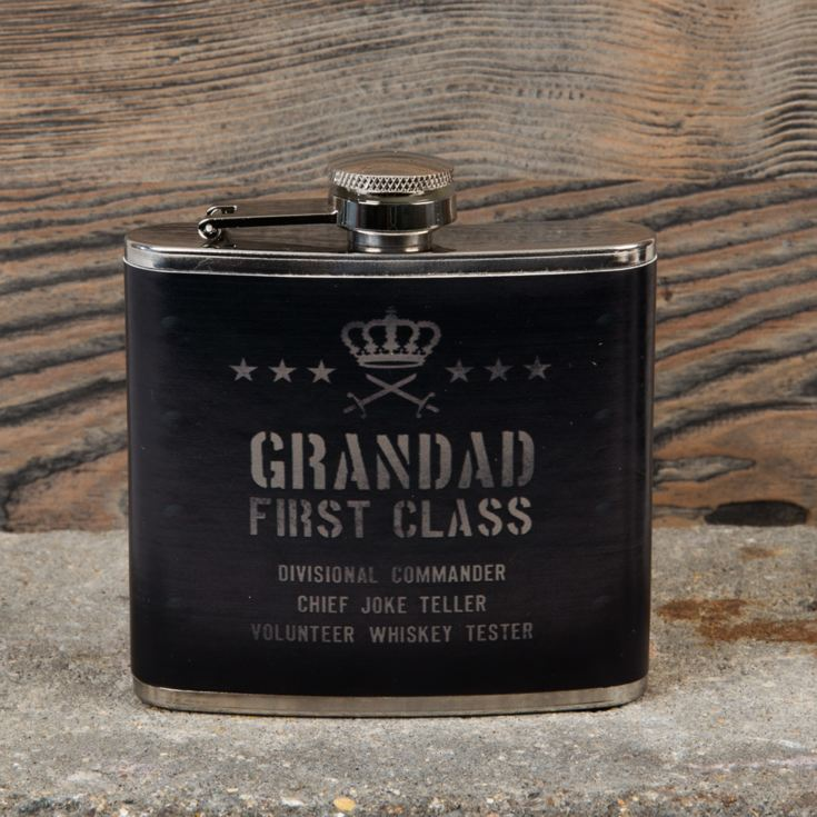 Military Heritage 5oz Hip Flask - Grandad First Class product image