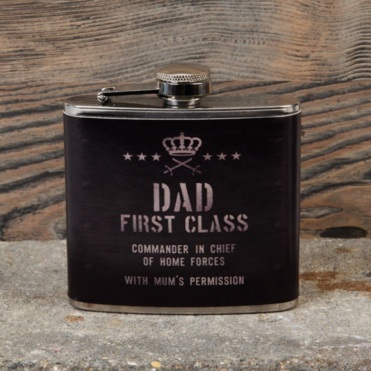 Military Heritage 5oz Hip Flask - Dad First Class product image