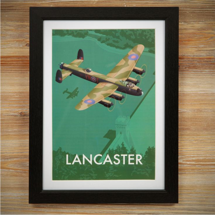 Military Heritage Frame Print - Lancaster Bomber product image