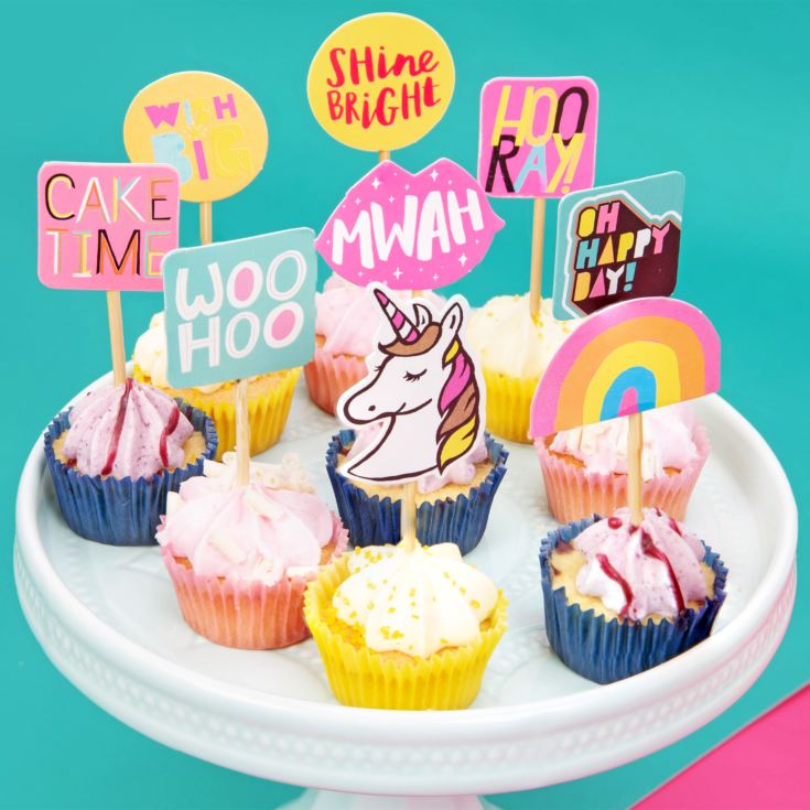 Neon Pop - 24pc Neon Cake Topper Set product image