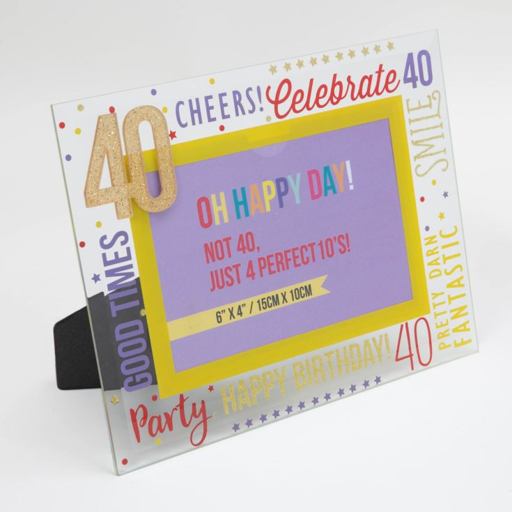 "6"" x 4"" - Oh Happy Day! Glass Photo Frame - 40 product image"