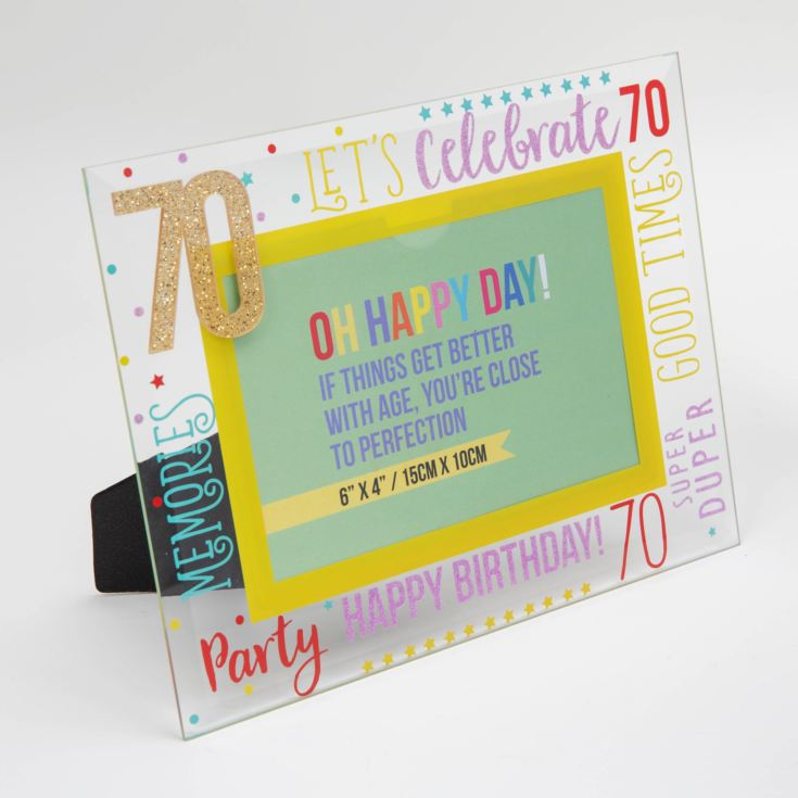 "6"" x 4"" - Oh Happy Day! Glass Photo Frame - 70 product image"