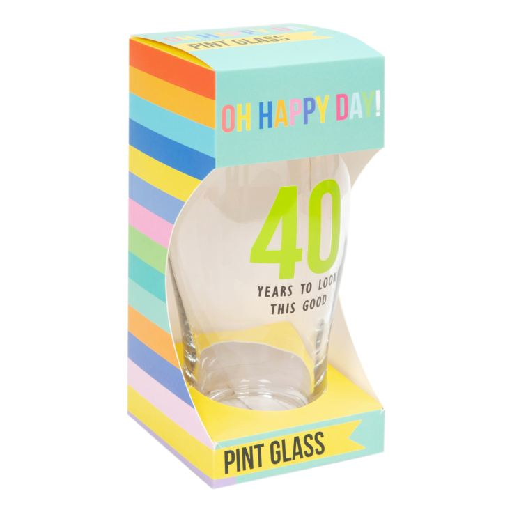 Oh Happy Day! Birthday Pint Glass - 40 product image