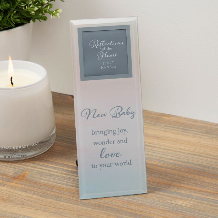 "2"" x 2"" - Reflections Of The Heart Photo Frame - New Baby product image"