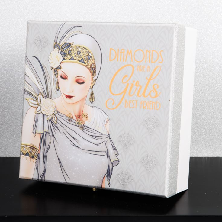 Charleston Paperwrap Keepsake Box - Lady in Silver product image