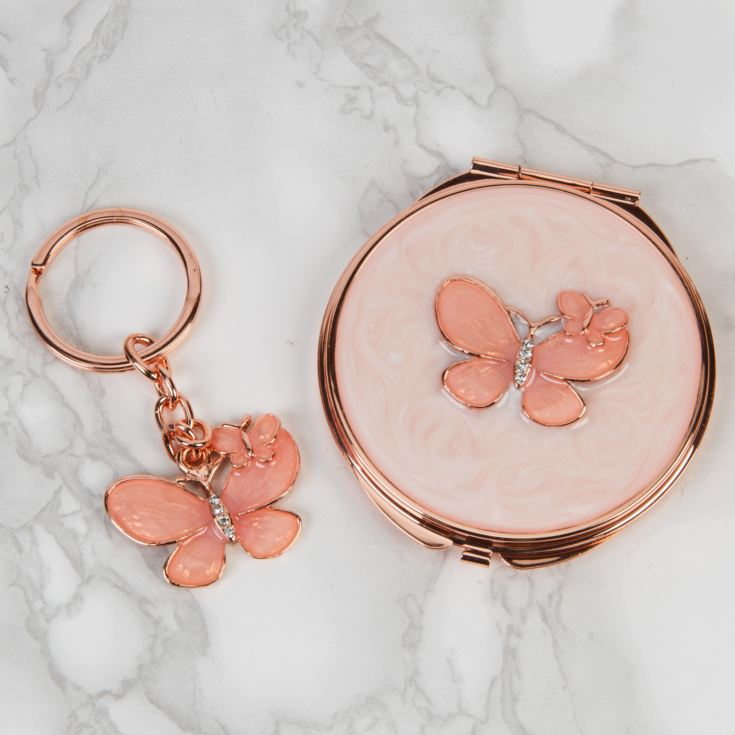 Sophia Keyring & Compact Mirror Set - Butterfly product image