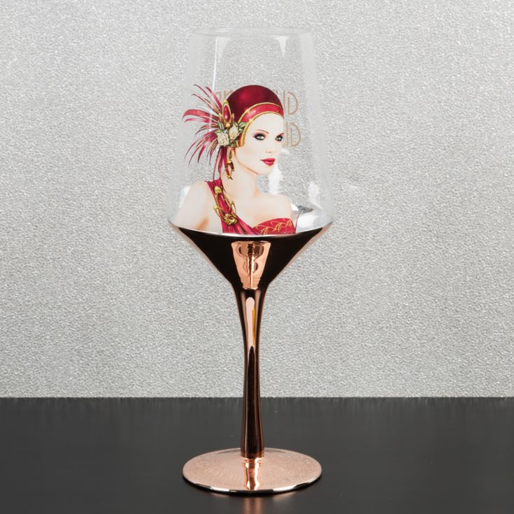 Charleston Wine Glass - Lady in Red product image
