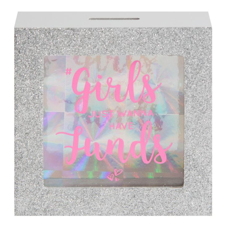 Girl Talk Money Box with Window - Girls Funds product image