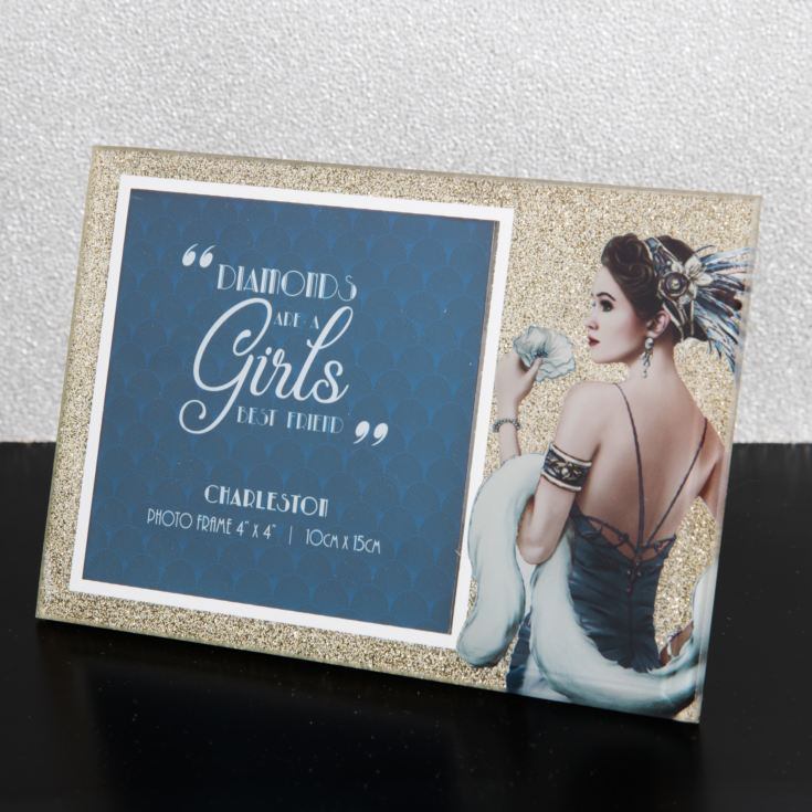 "4"" x 4"" - Charleston Sparkle Glass Photo Frame product image"