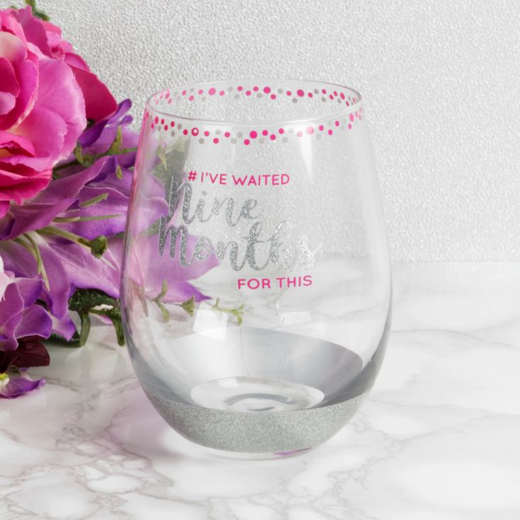 Girl Talk Stemless Glass - I've Waited 9 Months For This product image