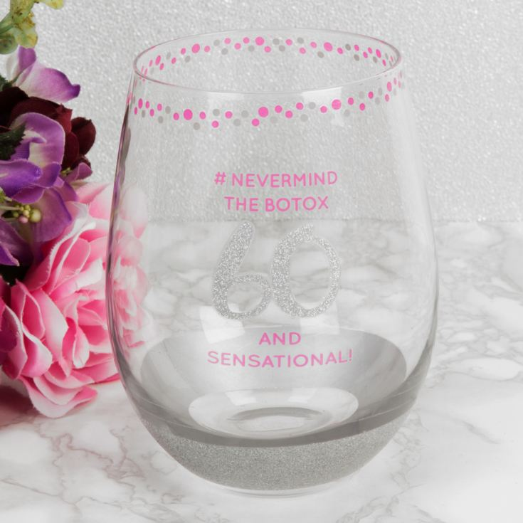 Girl Talk Stemless Glass - 60 and Sensational product image