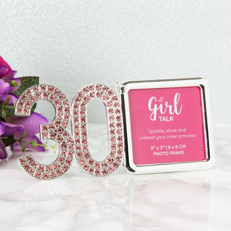 "3"" x 3"" - Girl Talk Pink Crystal Frame - 30 product image"
