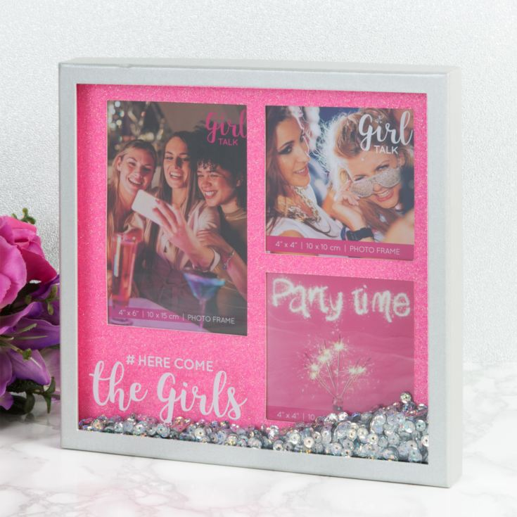Girl Talk Sparkle Box Frame Multi-Aperture - The Girls product image