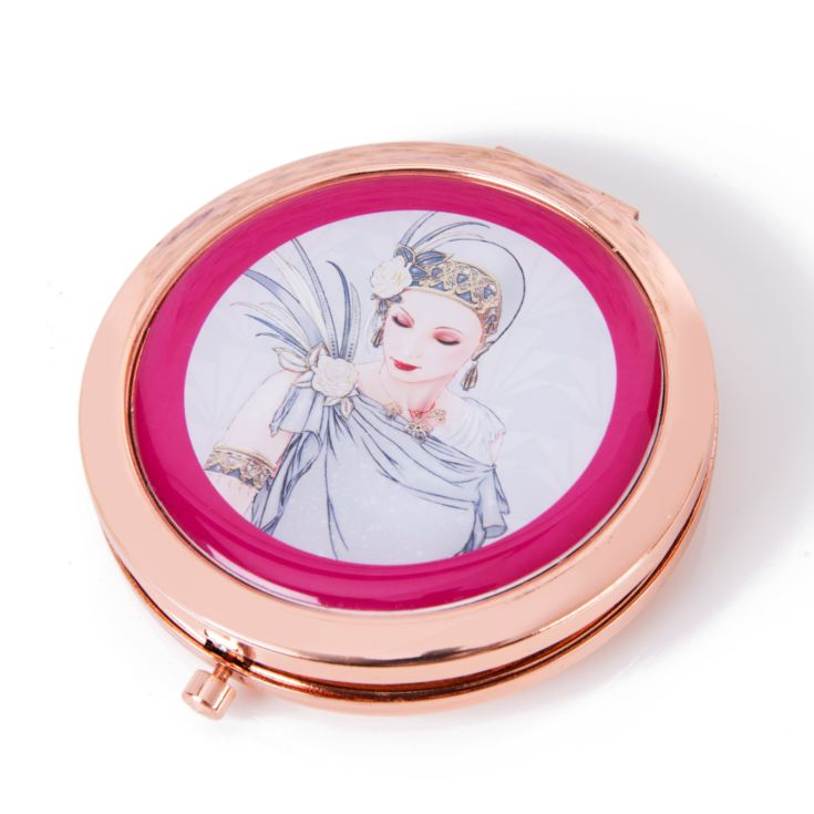 Charleston Rose Gold Compact Mirror - Lady Grey Dress product image