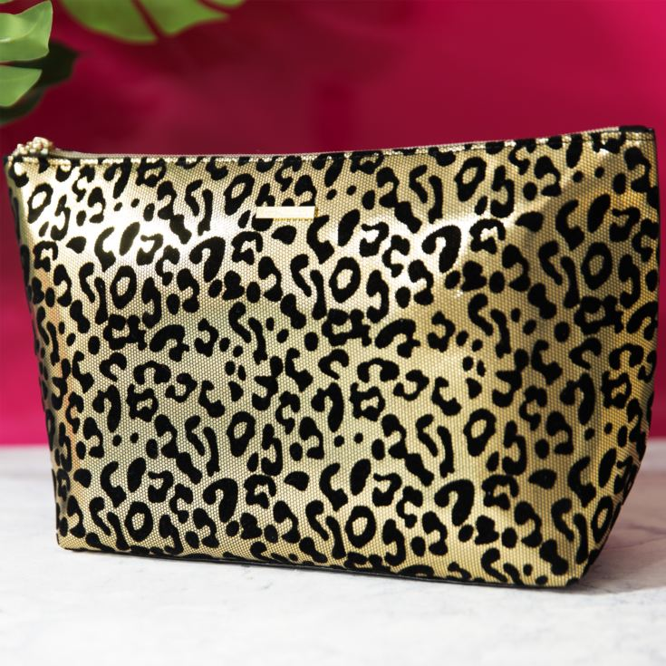 Juicy Couture Gold Leopard Print Cosmetic Bag product image