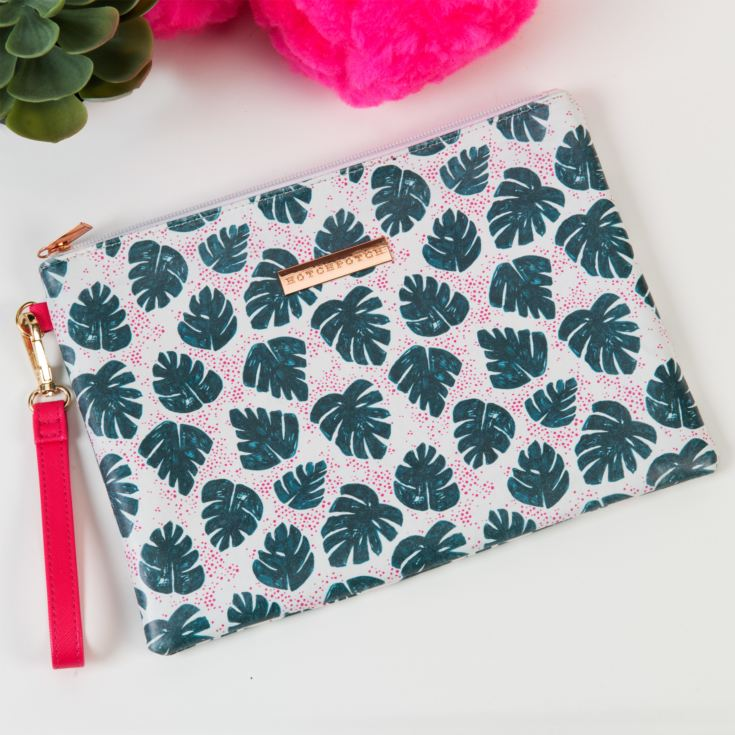 Hello Neon Monstera Leaf Cosmetic Bag product image