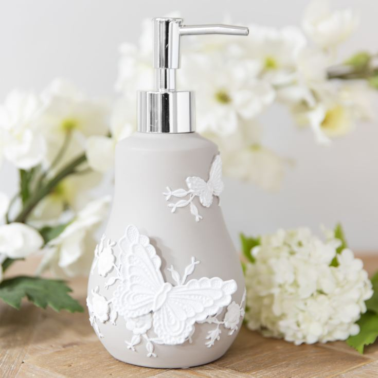 Resin Embroidered Style Grey & White Lotion Bottle product image