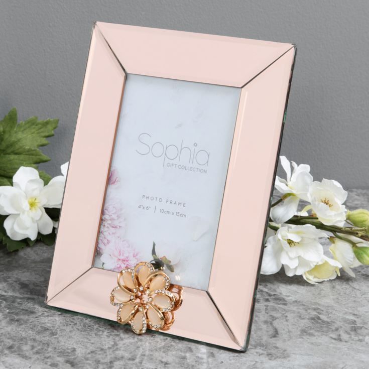 "4"" x 6"" - Sophia Champagne Mirror Glass Photo Frame product image"