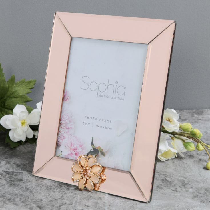 "5"" x 7"" - Sophia Champagne Mirror Glass Photo Frame product image"